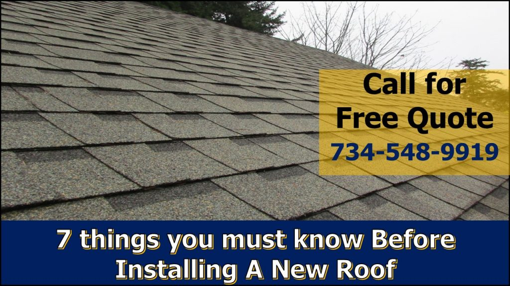 things to know before isntalling new roof in michigan